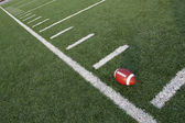 American Football on the Field Angled — Stock Photo