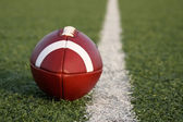 Football along a yard line — Stock Photo