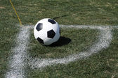 Soccer Ball Corner Kick — Stock Photo