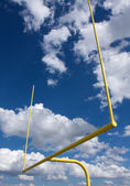 American Football Field Goal Posts — Stock Photo