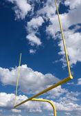 американский футбол поле цели должности — Стоковое фото