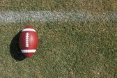 American Football on a Grass Field — Stock Photo
