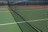 Tennis Court Net and Shadow — Stock Photo