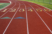 Starting Line of a Red Track — Stock Photo