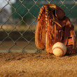 Stock Photo: Baseball and glove