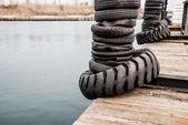 桟橋と水 — ストック写真