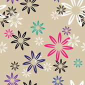 Seamless pattern color flowers — Stock Vector