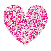 Heart of pink hearts — Stock Vector