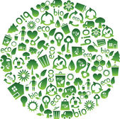 Range of eco icons — 图库矢量图片