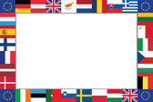Frame is composed of the flags of the EU countries — Stock Vector