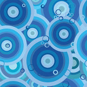 Seamless pattern: blue circles — Stock Vector