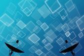 спутниковая антенна на абстрактный фон — Стоковое фото