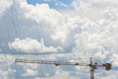 Construction site on clear sky background — Stock Photo