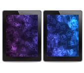 Tablet-pcs auf weißem hintergrund — Stockfoto