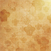 Cook icon on old paper background and pattern — Stock Photo