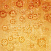 Clock icon on old paper background and pattern — Stock Photo