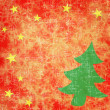 Tree of christmas on old paper background — Stock Photo