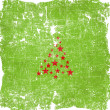 Christmas tree icon on old paper background and pattern — Stock Photo