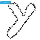 手中矢量设计绘图字母表字母 y — 图库矢量图片
