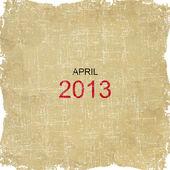 2013 日历老纸的设计-4 月 — 图库照片