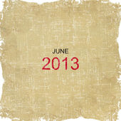 2013 Calendar Old Paper Design - June — Stock Photo