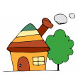 Stock Vector: Drawing houses