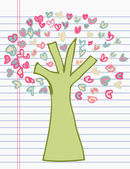 Drawing tree of heart — Stock Vector