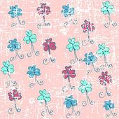 绘图蝴蝶情人节的礼物 — 图库矢量图片