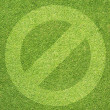 Stock Photo: Label icon on green grass background