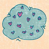 Çizim Sevgiliye arka plan — Stok Vektör