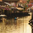 Floating market, Amphawa of Thailand  — Stock Photo