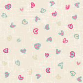 Drawing valentine background — Stock Vector