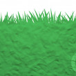 Label icon on plasticine grass — Stock Photo