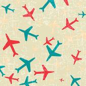 Plane icon on vintage background — Stock Vector