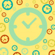 Clock icon on vintage background — 图库矢量图片 #23903197