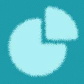 Ikona grafu trávy — Stock vektor