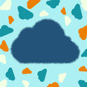 Drawing cloud background — Stock Vector