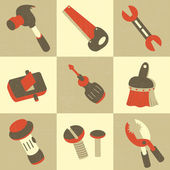 Hand Tool Icons — Stock Vector