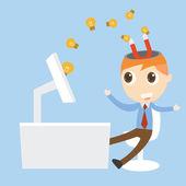 Magnet attracts idea — Stock Vector