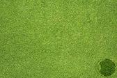 Augensymbol auf grünem Gras Textur und Hintergrund — Stockfoto