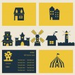 Stock Vector: House icons