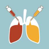 Recuperación de pulmón — Vector de stock