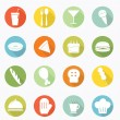 Food icon long shadow design — Stock Vector