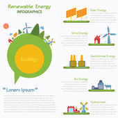 Renewable energy infographics, vector eps10 — Stock Vector