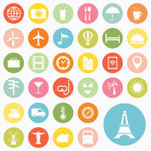 Set of travel icons design — Stock Vector