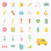 Set of medical icons design — Stock Vector