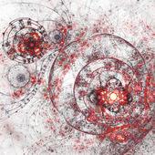 Modern fractal artwork, abstraction of a steampunk clockwork — Stock Photo