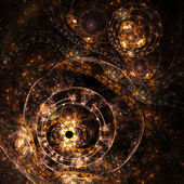 Fractal artwork, abstraction of a clockwork, a time machine — Stock Photo