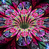 Colorful and bright flower, modern fractal art design — Stock Photo