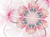 Gentle and soft flower, modern fractal art design — Zdjęcie stockowe